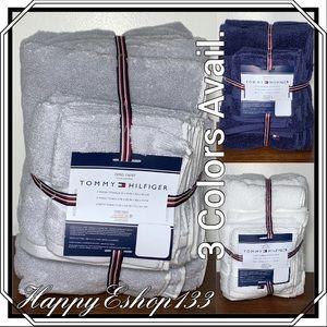 Tommy Hilfiger Bath Towel, Hand, Washcloth Set,6Pc